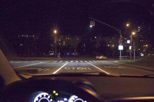пешеходный переход ночью