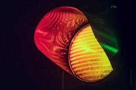 желтый свет светофора